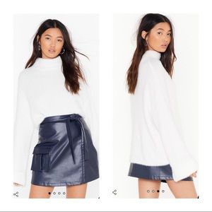 NWT Nasty Gal | Fluffy Belly Sleeve Sweater S